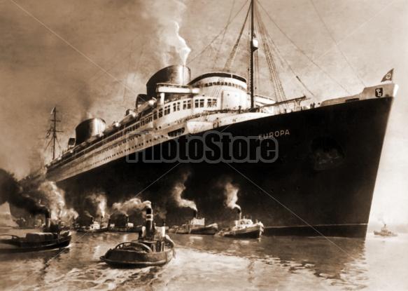 SS Europa - High-Speed Steam Turbine Ocean Vessel