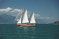 Sailing on Lake Garda, Italy